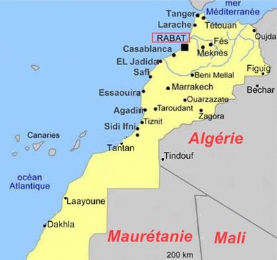 Cartina Geografica Fisica Del Marocco.Cartina Del Marocco Per Organizzare Al Meglio Viaggio E Vacanze